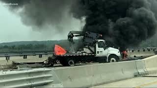 Bizarre, fiery crash kills man on Woodrow Wilson Bridge