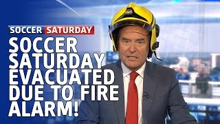 Soccer Saturday evacuated due to fire alarm, but Fireman Jeff saves the day!