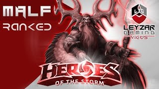 Heroes of the Storm Ranked Gameplay - Malfurion Full Support (HotS Hero League)