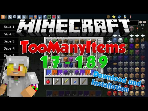 Minecraft TooManyItems 1.8/1.7.10 [German] Download + Installation