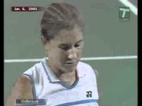 2001 Hopman Cup Final   Hingis Federer Vs  Seles Gambill Part 5