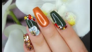 Glamorous Acrylic Fall Nails