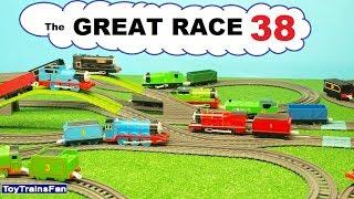 Thomas & Friends GREAT RACE #38 - toy trains for kids. Pociągi zabawki Tomek i Przyjaciele