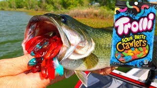 Gummy Worm Fishing Challenge | Ace Videos