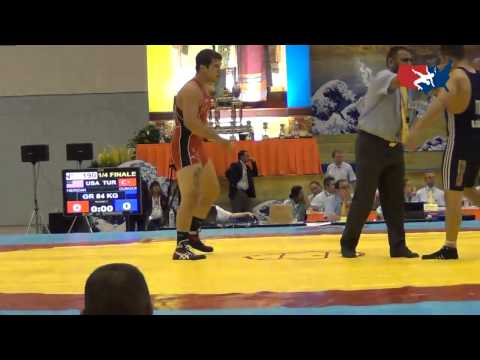2012 Junior Worlds - GR 84kg - Lucas Sheridan (USA) vs. Baris Gungor (TUR)