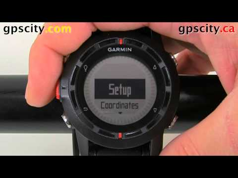 Menu Options in the Garmin fenix GPS Based Outdoor Watch