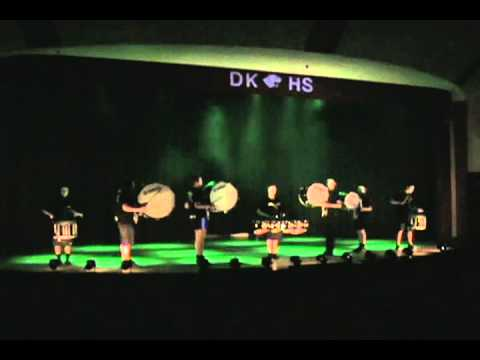 Delton Kellogg High School Drumline - Follies 2012.wmv