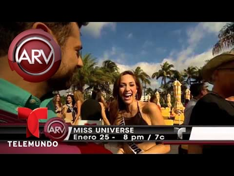 Candidatas a Miss Universo posan en traje de baño en Miami Florida VIDEO