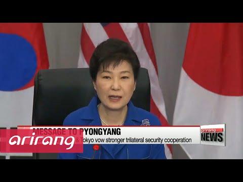 President Park presses N. Korea at summit talks in Washington