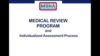 MSHA's Medical Review Program