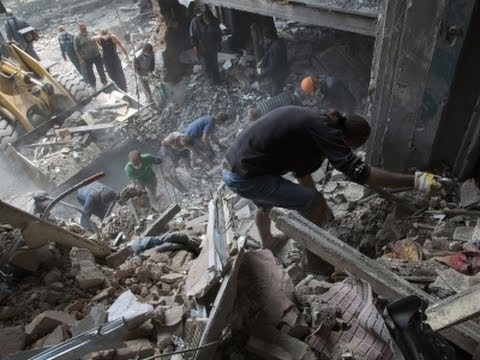 Raw: Ukraine Airstrike Hits Apartments, 11 Dead