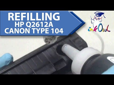 How to Refill HP Q2612A 12A and CANON Type 104 Toner Cartridges