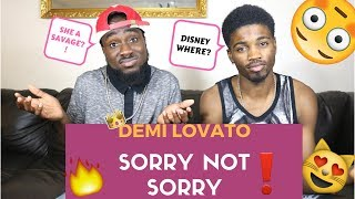 Download Lagu Demi Lovato - Sorry Not Sorry| Official Reaction Gratis STAFABAND
