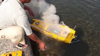 RC Brushless SpeedBoat On Fire