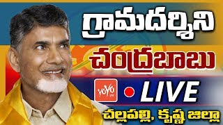 CM Chandrababu Naidu LIVE | Gramadarshini At Challapalli | Krishna Dist