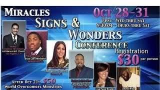 Prophet Brian Carn 10-30-15 Miracle Signs & Wonders Conference SC World Overcomers Min