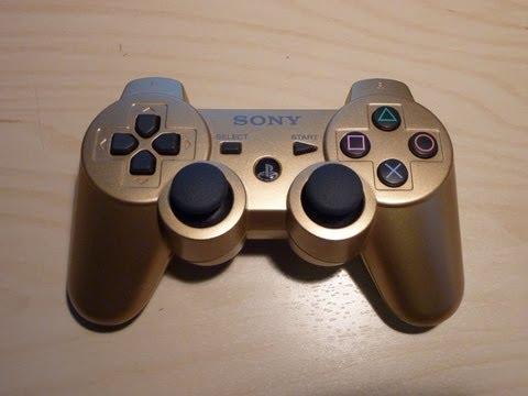 Playstation 3 Dualshock 3 Gold controller