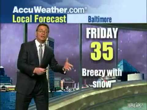 Meteorologist Freaks Out Over Blizzard