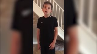 10-Year-Old Boy with Autism Singing