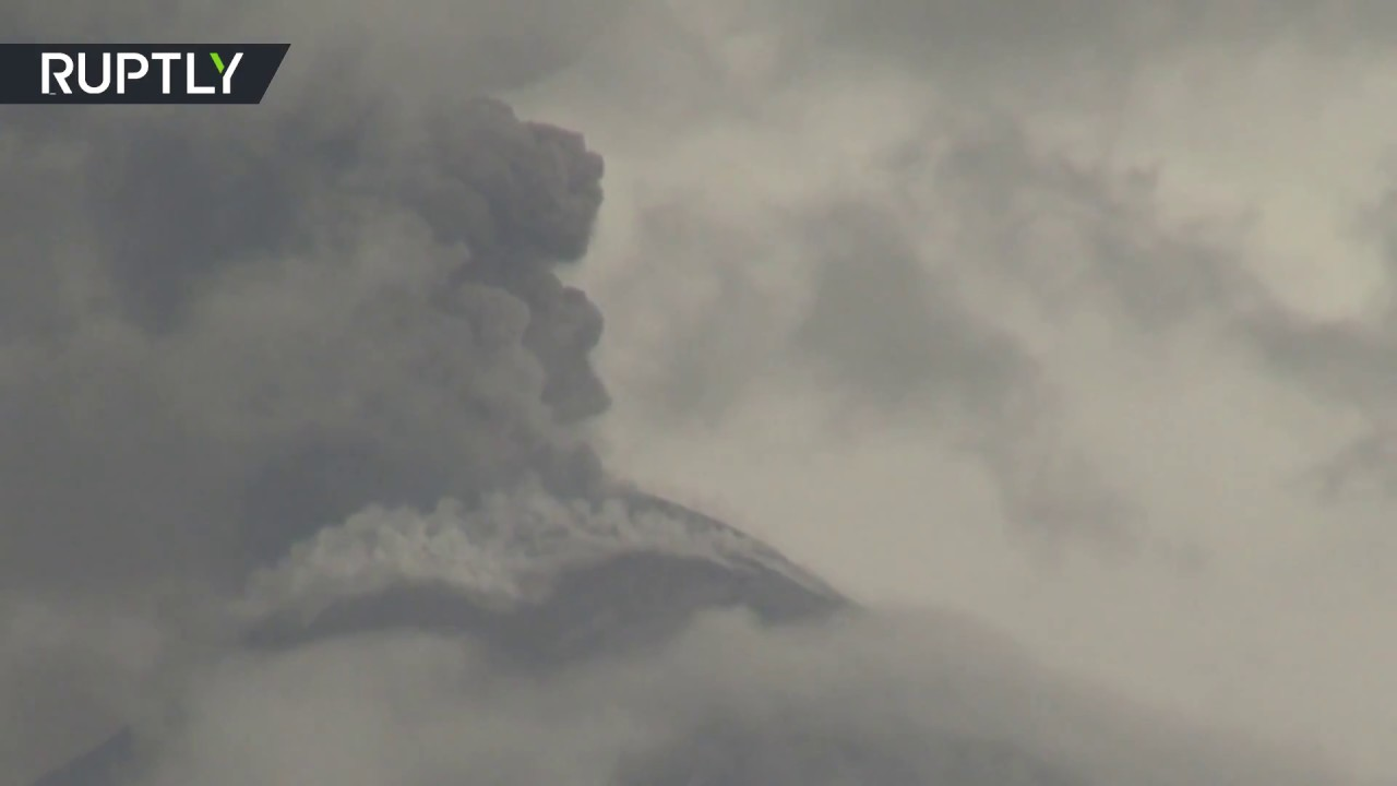 Soputan volcano erupting on Indonesia's Sulawesi days after fatal quake & tsunami