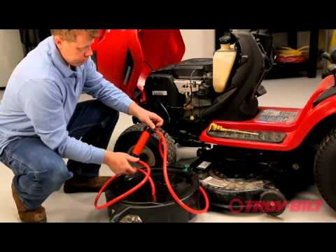 How to change the oil   Troy-Bilt riding lawn mower