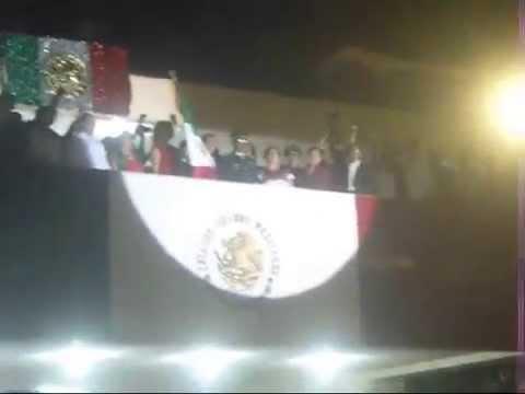CEREMONIA DEL GRITO DE INDEPENDENCIA 2014 EN IGUALA GUERRERO MEXICO