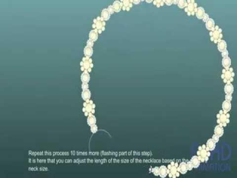 Бисероплетение для начинающих ожерелья видео - Master class.