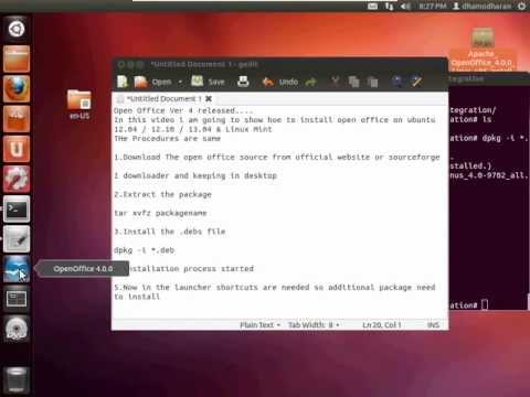 How To Install / Uninstall  Open Office 4 On Ubuntu /Linuxmint