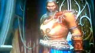 God Of War II intentando matar a theseus en modo Titan...