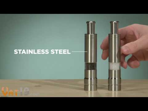Pump and Grind One-Handed Salt and Pepper Mills