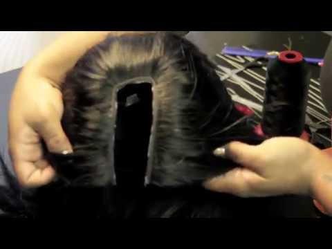 The No Sew U part wig Hot Glue Gun Method