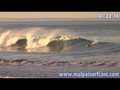 Santa Teresa Costa Rica, www malpaisurfcam com 01 22 16 Surfing Mal Pais