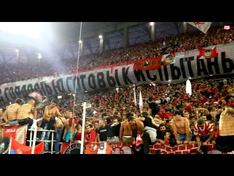 Spartak Moskva ole ole ola | Делије и Фратрия вместе на Открытйи Арены