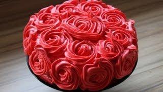 Muttertagstorte Rosen torte aus den resten meiner Minnie Mouse Torte - Krümel Rosentorte