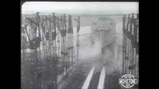 British Movietone News: RMS Queen Mary: The launch of Queen Mary-Original footage