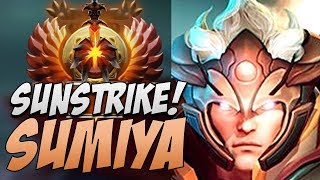 Sumiya Invoker - Practice in using SUNSTRIKE | Dota Gameplay