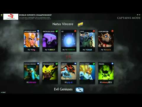Evil Geniuses vs Natus Vincere Game 2 - World Esports Championship @TobiWanDOTA @BulbaDota