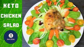 Keto salad || Keto Juicy Baked Chicken Salad || Weight loss recipe || How to make Keto salad
