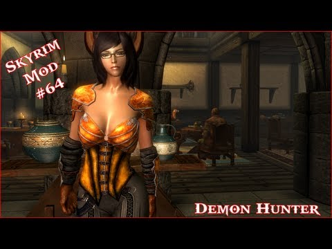 The Elder Scrolls V: Skyrim - Demon Hunter Armor CBBE Mod