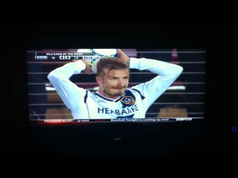 David Beckham Fight vs. San Jose Earthquakes