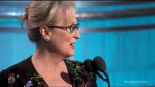 Meryl Streep Speech at The Golden Globes 2017 - HD