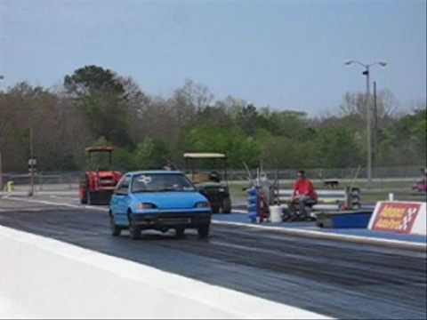 Turbo Geo Metro dragstrip (Seriously)
