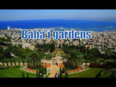 Panoramic views of the Bahá'í gardens in Haifa, Israel Travel Video (Hanging Gardens of Haifa)