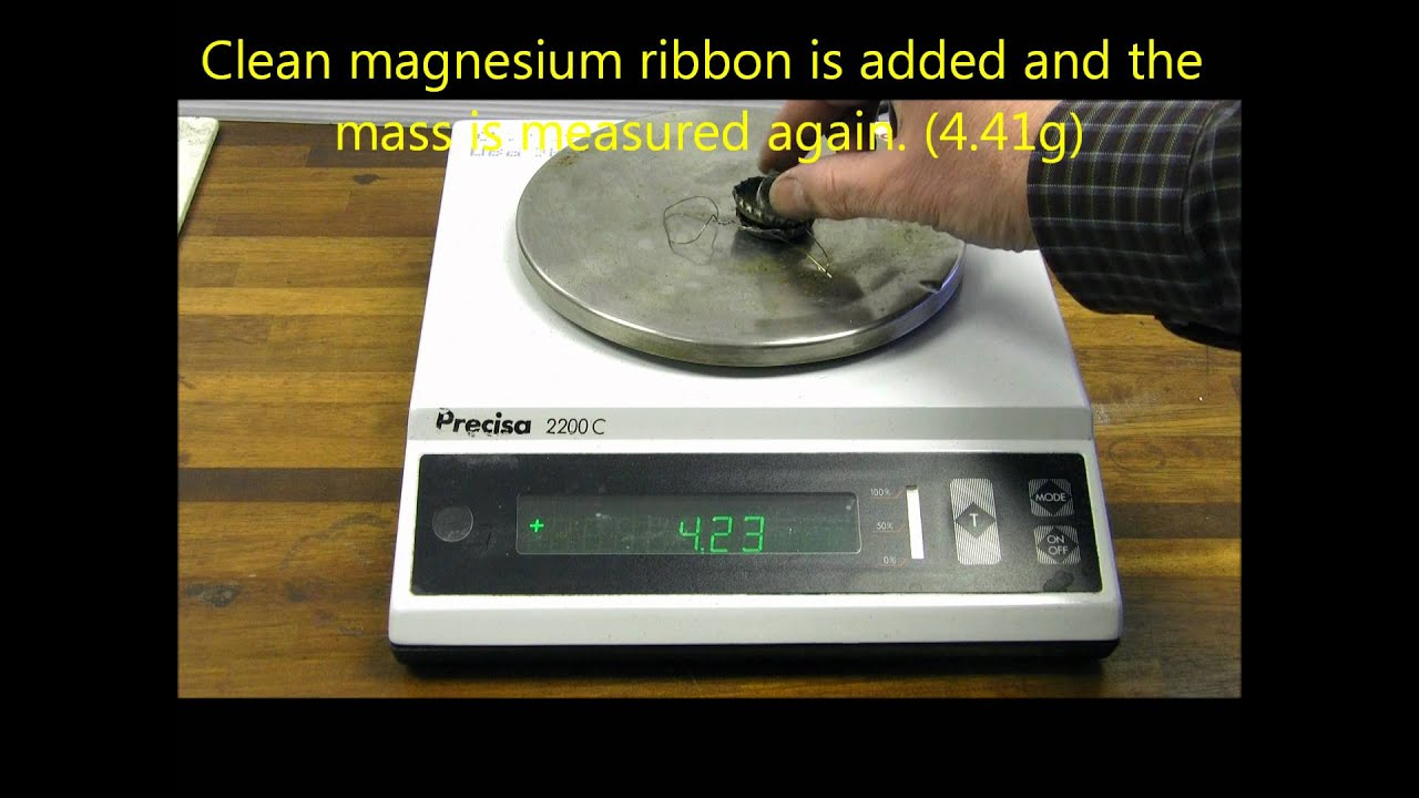 Finding the formula of magnesium oxide - YouTube