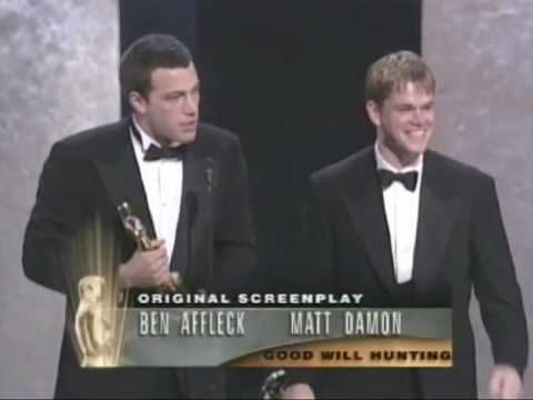 I never get tired of watching young Ben and Matt's pure joy accepting the Oscar for Good Will Hunting