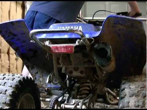 yamaha warrior 350  idle/rev & sparkplug check