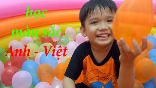 Cùng bé chơi bong bóng và học màu sắc tiếng Anh và tiếng Việt  Kênh trẻ em - video cho bé yêu