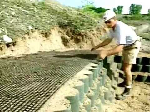 How To Install A Geogrid Geosynthetic Layer Within The