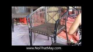 Ghế giả mây - Sản xuất ghế cafe sân vườn cho quán cafe Suối Đá