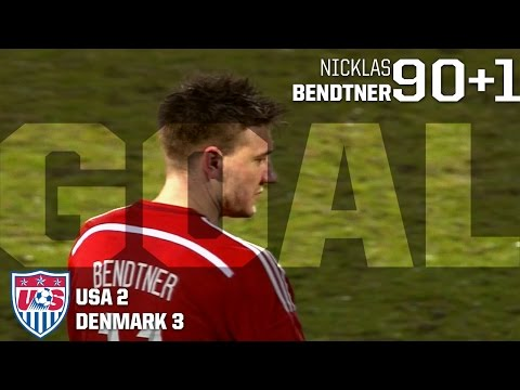 MNT vs. Denmark: Nicklas Bendtner Third Goal - March 25, 2015